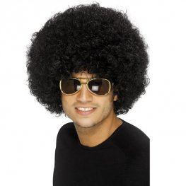 Black 70s Funky Afro Wigs