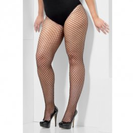 Plus Size Black Lattice Net Nights