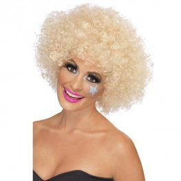 Blonde 70s Funky Afro Wigs