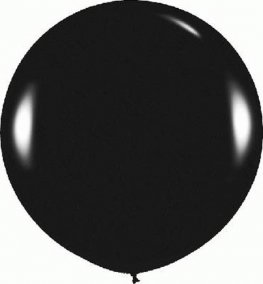 Metallic Black Giant Latex Balloons