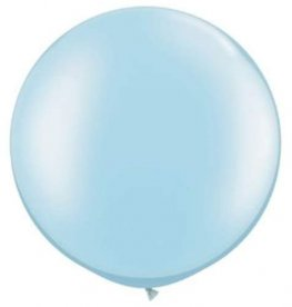 Metallic Light Blue Giant Latex Balloons