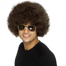 Brown 70s Funky Afro Wigs