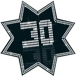 30 Black And White Star Cutout