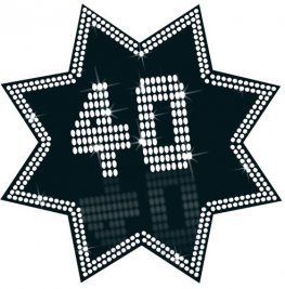 40 Black And White Star Cutout