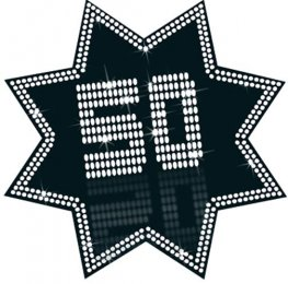 50 Black And White Star Cutout