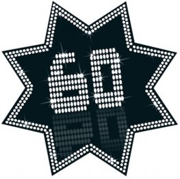 60 Black And White Star Cutout