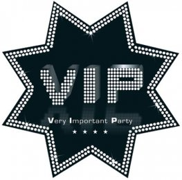 VIP Black And White Star Cutout