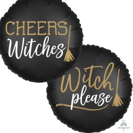 "18"" Satin Cheers Witches 2 Sided Foil Balloons"