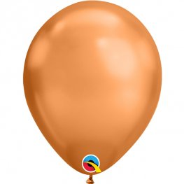 "11"" Chrome Copper Latex Balloons 25pk"