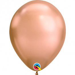 "11"" Chrome Rose Gold Latex Balloons 25pk"