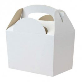 White Party Box With Handle