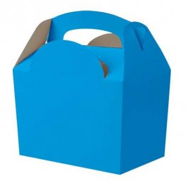 Bright Blue Party Box With Handle