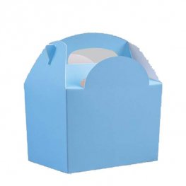 Light Blue Party Box With Handle