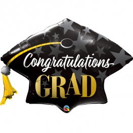 Congratulations Grad Stars Supershape Balloons
