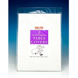 White Paper Tablecovers 10 Pack Of 2