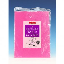 Hot Pink Paper Tablecovers 10 Pack Of 2