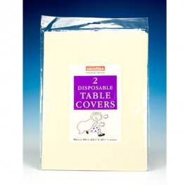 Ivory Paper Tablecovers 10 Pack Of 2