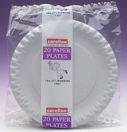 7 Inch White Paper Plates 12pks Of 20