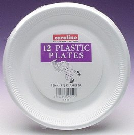 7 Inch White Foam Plates 10pks Of 12