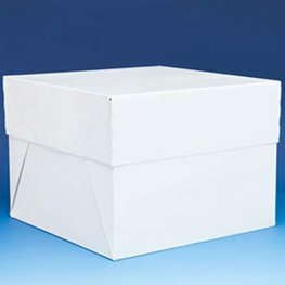 10 inch White Cake Box With Lid