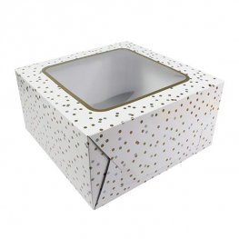 10 Inch Metallic Spot Cake Box