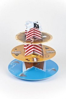 3 Tier Pirate Ship Cupcake Stand