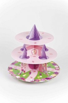 3 Tier Princess Castle Cupcake Stand