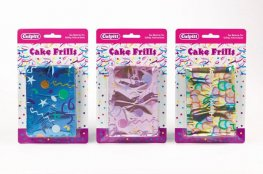 Metallic Cake Band Frills x1