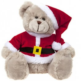 30cm Deluxe Bear In Christmas Suit