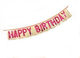 Happy Birthday Fringed Banner