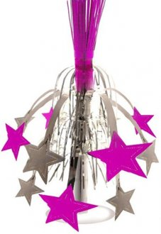 Silver And Pink Star Fountain Decoration