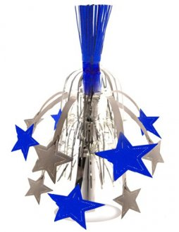 Silver And Blue Star Fountain Decoration