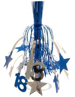 Age 18 Silver And Blue Star Fountain Decoration