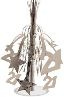 Age 21 Silver Star Fountain Decoration