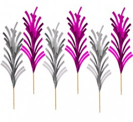 Pink And Silver Mini Spike Picks x30