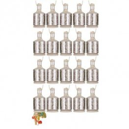 Holographic Silver Party Poppers 16pk