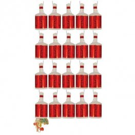 Red Holographic Party Poppers 16pk