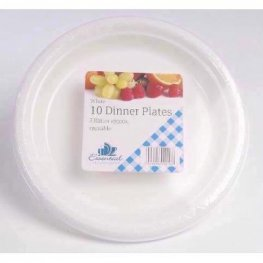 10.25 inch Thermo Dinner Plates x10