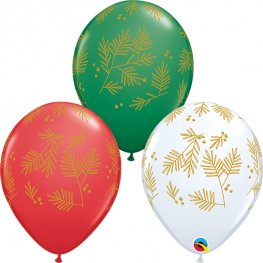 "11"" Contemporary Evergreen Latex Balloons 25pk"