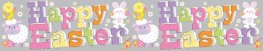 Happy Easter Holographic Extra Wide Banner