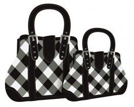 Black And White Handbag Gift Bags