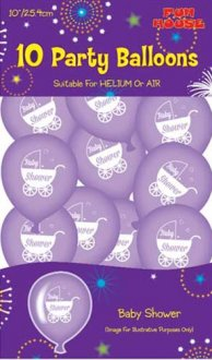 "10"" Baby Shower Latex Balloons 10pk"