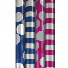Metallic Wrapping Paper Roll Box Of 36