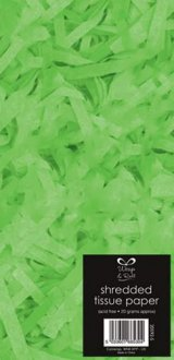 Neon Green Shredded Tissue Paper