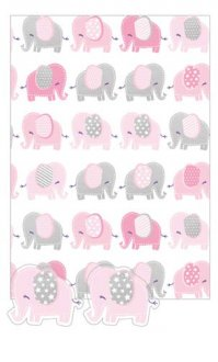 Baby Girl Elephant Gift Wrap And Tags