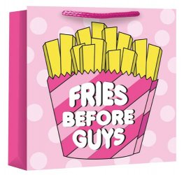 Fries Before Guys Woven Gift Bag