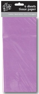 Lilac Tissue Paper x6 Sheets