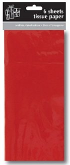 Red Tissue Paper x6 Sheets
