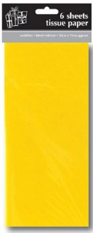 Yellow Tissue Paper x6 Sheets
