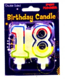 18th Birthday Candle 6pk